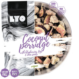 Lyofood Coconut Porridge Blueberries/Figs/Chia Seeds 100g
